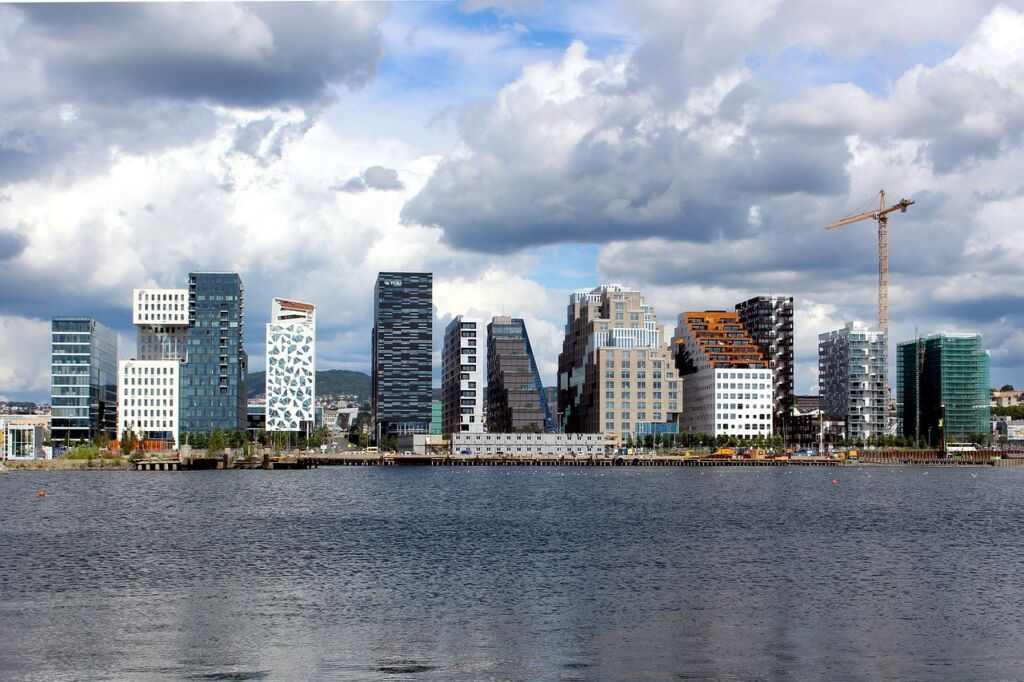A panoramic view of Oslo, Norway