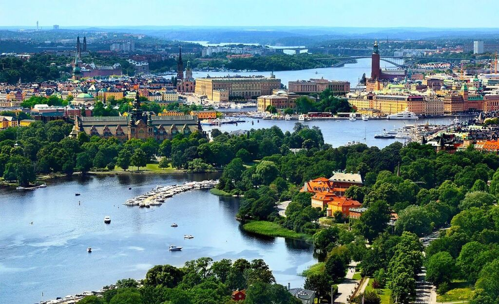A panoramic photo of Stockholm, Sweden
