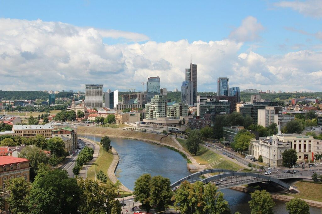 A panoramic view of Vilnius, Lithuania